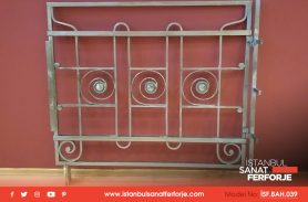 Single Door, Openable, Beige Color Wrought Iron Garden Gate