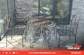 Exquisite Workmanship, Wrought Iron Table Chair Set