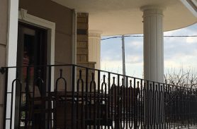 Siyah, Oval Dikdörtgen Ferforje Balkon Korkulukları