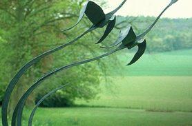 Wrought Iron, Crane Bird, Garden Accessory
