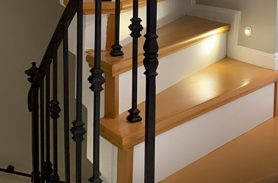 Black, Fine, Elegant Handwork, Wrought Iron Stair Railing