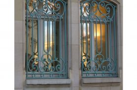 For Single Glass, Colored, Wrought Iron Window Railing