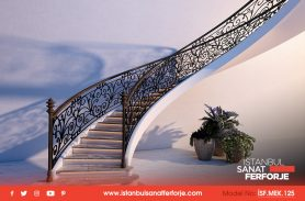 Architecture, Handcrafted Wrought Iron Stair Railing
