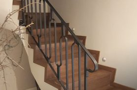 Interior, Wave Detailed, Wrought Iron Stair Railing