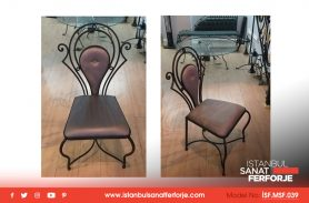 Leather Coating, Wrought Iron Chair