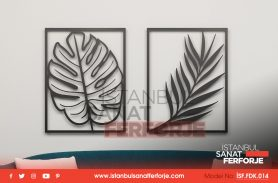 2-Wrought Iron Leaf Pattern, Laser Cut, Decorative Wrought Iron Table