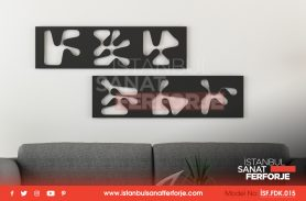 2-Piece Exotic Pattern, Laser Cut, Decorative Wrought Iron Table