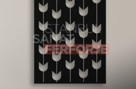 Tulip Pattern, Laser Cut, Decorative Wrought Iron Table