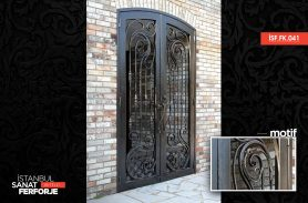 Site Wrought Iron Entrance Door
