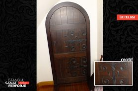 Wood Detailed, Wrought Iron Door Accessory