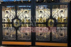 Ivy Patterned Wrought Iron Garage Door