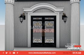 Stylish And Durable Wrought Iron Door