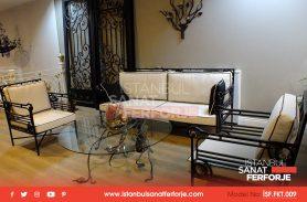 Special Handwork, Black Wrought Iron Sofa Set