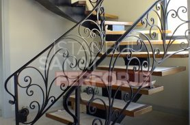Sarmaşık Tasarım Dayanıklı Ferforje Merdiven Korkuluğu