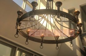 Stylish Wrought Iron Pendant Lamp Chandelier For Office