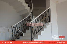 WhitBeyaz Ferforje Merdiven Korkuluğue Wrought Iron Stair Railing