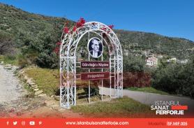 Village Entrance Wrought Iron Sign Prepared for Gündoğdu Village