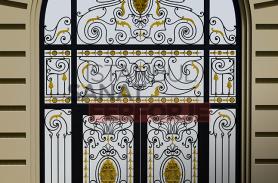 Gold Embroidered Wrought Iron Villa Door