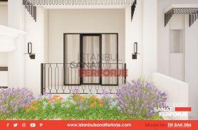 Özel Tasarım Balkon Korkuluğu Ferforje