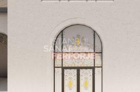 Özel Tasarım Ve Gold İşlemeli Ferforje Kapı